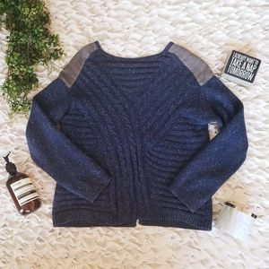 NORDSTROM HINGE Cross-Cableknit Sweater